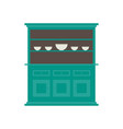 kitchen hutch flat style in in colo vector image