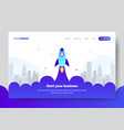 landing page template of startup business vector image