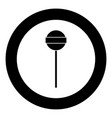 lollipop icon black color in circle vector image