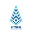 m letter - logo template concept vector image vector image