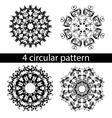 mandala zentangl doodle painting pattern vector image vector image