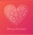 merry christmas colorful modern line vector image