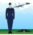 Military Uniform Force pilot-4 vector image vector image
