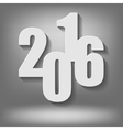New Year Grey Background vector image vector image