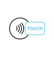 nfc touch payment outline icon vector image vector image