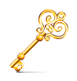 object retro golden key vector image vector image