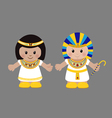 Pharaoh and Cleopatra in ancient Egyptian clothing vector image vector image