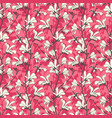pink floral background with branch and white vector image vector image