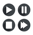 Player navigation icons Play stop and pause vector image vector image