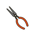 plier tool repair vector image