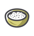 porrige yellow cup icon cartoon vector image