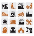 power generation icons vector image