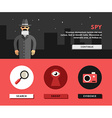Profession Concept Spy Flat Design Concepts for vector image