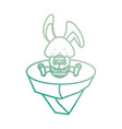 rabbit and easter vector image vector image