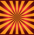 red and orange sunburst background radial rays vector image