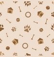 seamless pattern animals dog theme vector image vector image