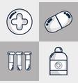 set hospital element to emergency vector image vector image