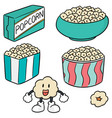 set of popcorn vector image