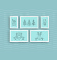 set of postage stamps vector image vector image
