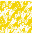 simple yellow acacia flower seamless pattern vector image vector image