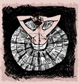 Sketch of ballet dancer vector image