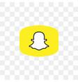 snapchat social media icon design template vector image vector image