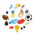 sport isometric icons vector image vector image