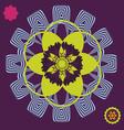 spring meditation floral poster vector image vector image