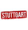 stuttgart sign or stamp vector image vector image