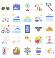 summer vacation related icon set 4 flat style vector image vector image