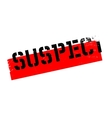 Suspect rubber stamp vector image vector image
