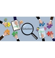 team work together to find a solution vector image