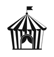 Vintage circus tent simple icon vector image vector image