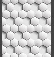 volumetric seamless pattern of hexagons vector image vector image