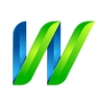 W letter leaves eco logo volume icon vector image vector image
