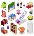 winery wine alcohol in winebottles vector image