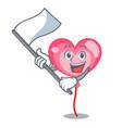 with flag ballon heart mascot cartoon vector image