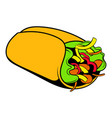 wrap sandwich icon cartoon vector image vector image