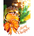 Yellow bow and Christmas bauble vector image vector image