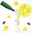 Sparkling water vector image
