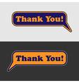 thank you - two speech bubbles vector image