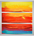 set of watercolor backgrounds banners vector image