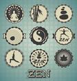 Zen Labels vector image