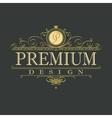 luxury ornament floral design logo vector image