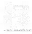 Plan Background vector image