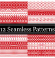 12 scandinavian style patterns inspired by vector image vector image