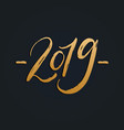 2019 hand lettering new year vector image