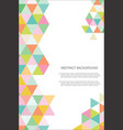 abstract geometric design background template 4 vector image vector image