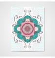 Abstract poster with floral ornament vector image vector image