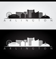 arlington texas - usa skyline and landmarks vector image vector image